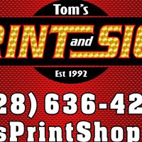 Tom's Print And Sign logo