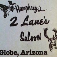 Humphrey's 2 Lanes Saloon logo