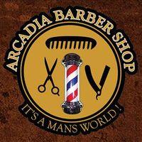 Arcadia Barber Shop logo