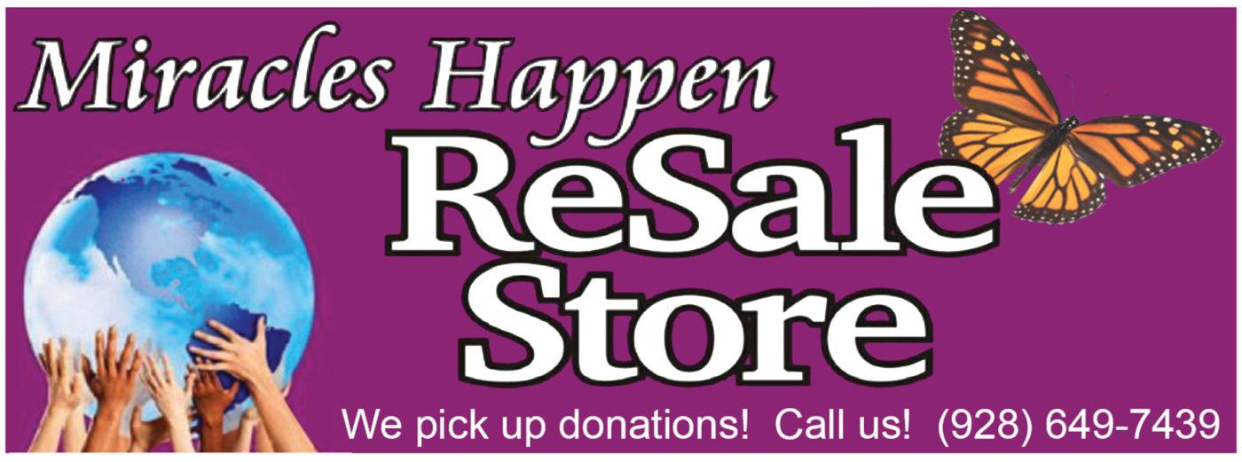 Miracles Happen ReSale Store logo