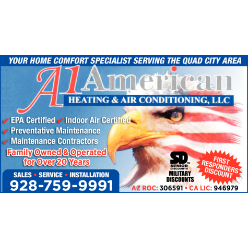 A -1 American Heating & Air logo