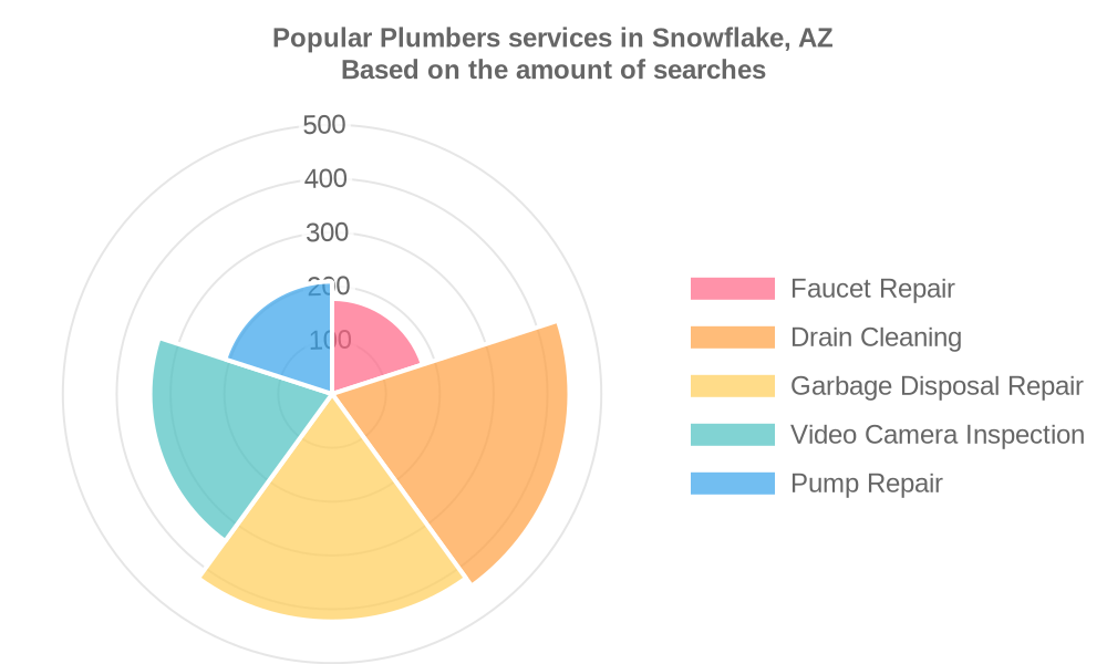 Popular services provided by plumbers in Snowflake, AZ