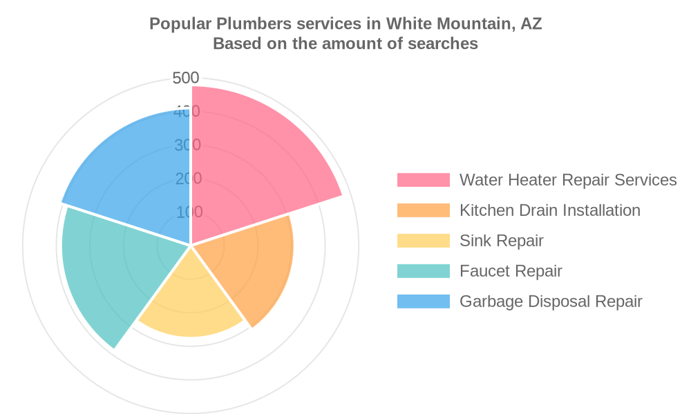 Popular services provided by plumbers in White Mountain, AZ