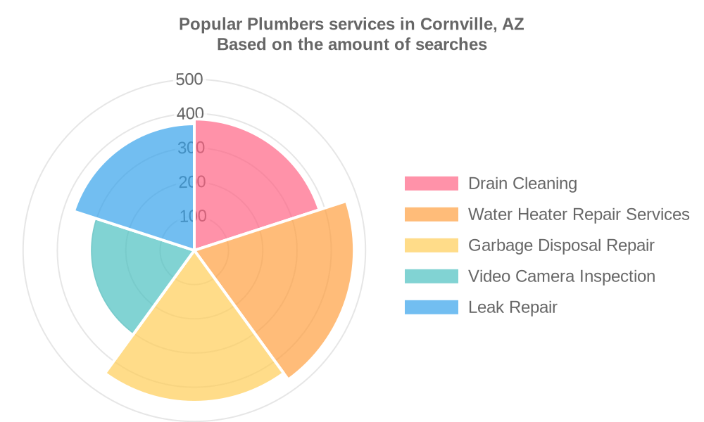 Popular services provided by plumbers in Cornville, AZ