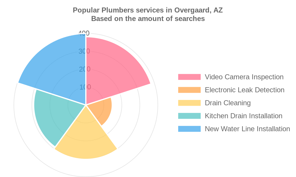 Popular services provided by plumbers in Overgaard, AZ