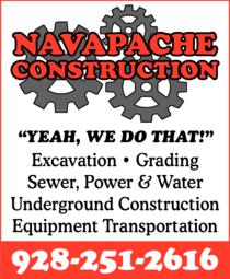 Print Ad of Navapache Construction