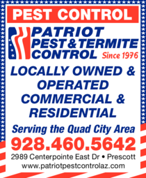 Yellow Pages Ad of Patriot Pest & Termite Control