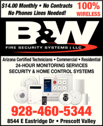 Print Ad of B & W Fire Security Systems Llc