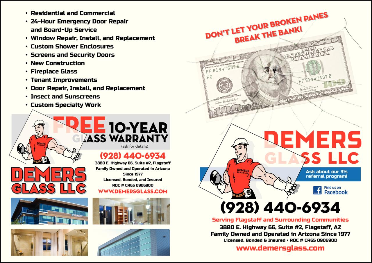 Print Ad of Demers Glass Llc