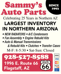 Print Ad of Sammy's Auto Parts