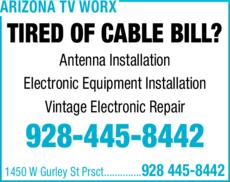 Yellow Pages Ad of Arizona Tv Worx