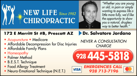 Print Ad of New Life Chiropractic