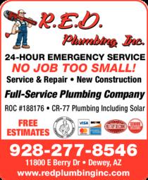 Print Ad of R E D Plumbing Inc