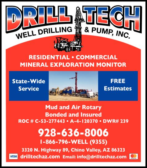 Print Ad of Drill-Tech Inc Well Drilling & Pump