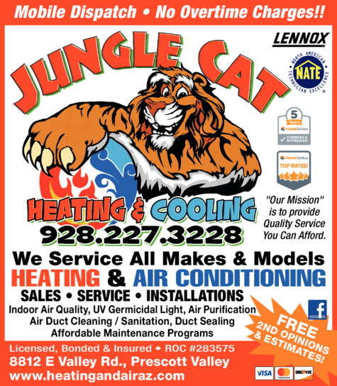 Print Ad of Jungle Cat Heating And Cooling