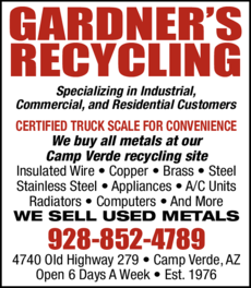 Yellow Pages Ad of Gardner's Recycling