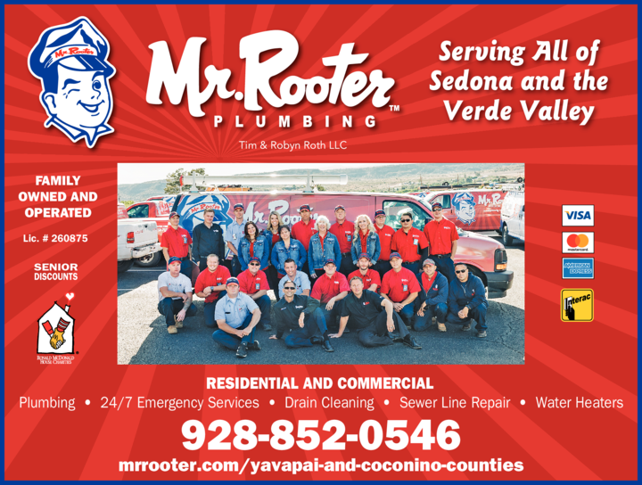 Yellow Pages Ad of Mr Rooter Of Yavapai & Coconino Counties