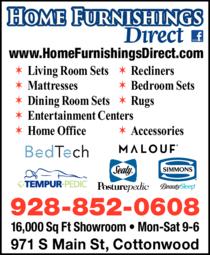Print Ad of Home Furnishings Direct