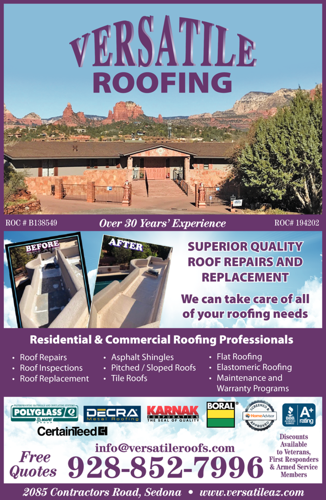Print Ad of Versatile Roofing