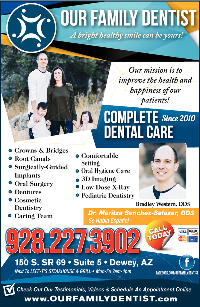 Yellow Pages Ad of Our Family Dentist