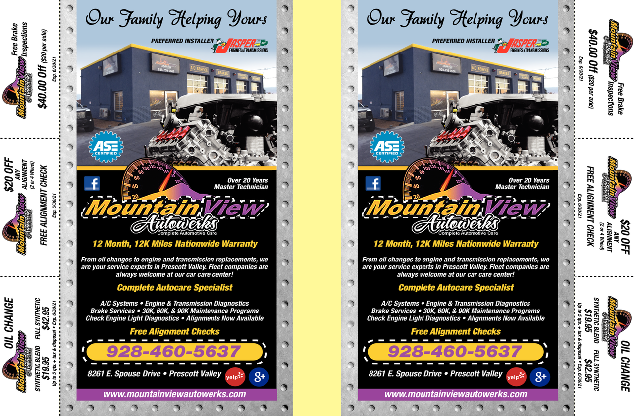 Print Ad of Mountainview Autowerks
