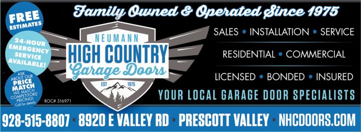Print Ad of Neumann High Country Doors