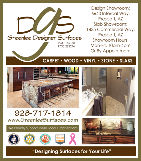 Yellow Pages Ad of Greenlee Designer Surfaces