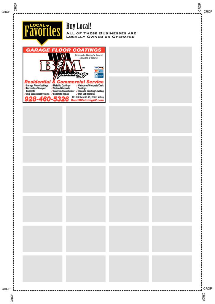 Print Ad of B & M Painting Inc