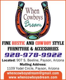 Print Ad of When Cowboys Dream