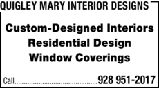 Yellow Pages Ad of Quigley Mary Interior Designs