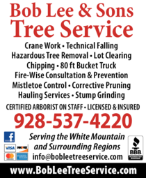 Print Ad of Bob Lee & Sons Tree Service