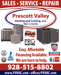 Print Ad of Prescott Valley Heating And Cooling Llc