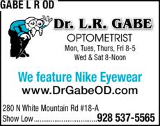 Print Ad of Gabe L R Od