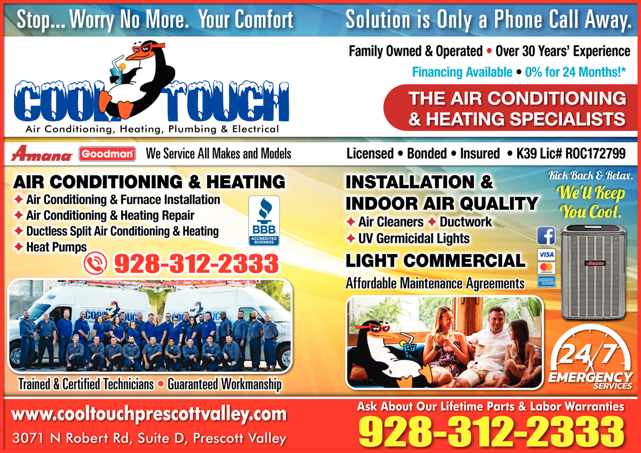 Yellow Pages Ad of Cool Touch Air Conditioning & Heating
