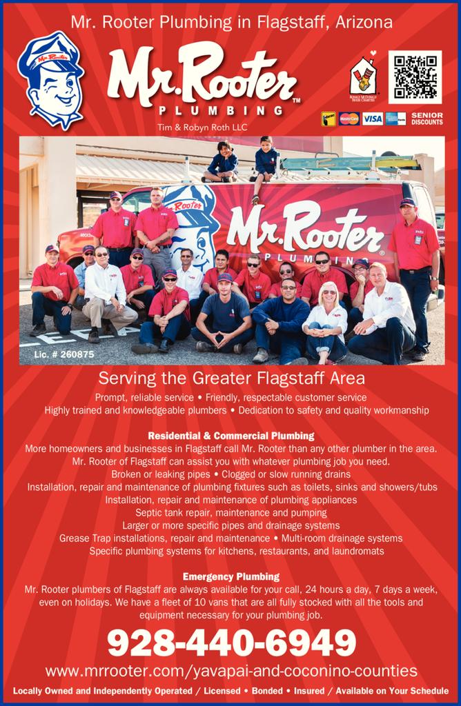 Print Ad of Mr Rooter Of Yavapai & Coconino Counties