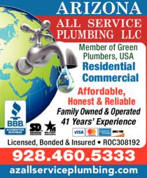 Print Ad of Arizona All Service Plumbing Llc
