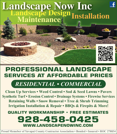 Yellow Pages Ad of Landscape Now Inc