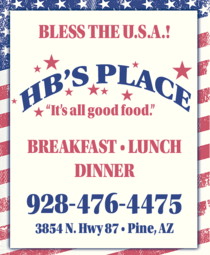 Print Ad of Hb's Place