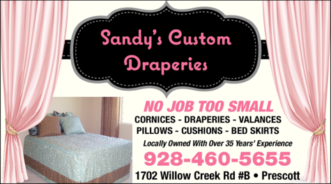 Print Ad of Sandy's Custom Draperies