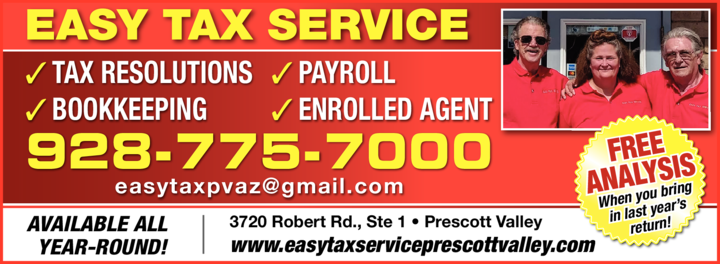 Print Ad of Easy Tax Service